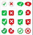 cancel and check button collection vector image
