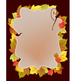 Card with autumn leaf vector image