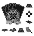 casino and equipment black icons in set collection vector image vector image
