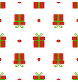 christmas gift boxes pattern red xmas boxes with vector image vector image