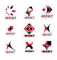 collection of conceptual geometric forms vector image vector image