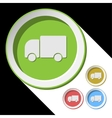 color icons with lorry car vector image vector image