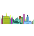 colored cityscape of sydney vector image