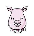 cute pig female wild animal vector image vector image