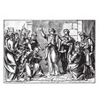 daniel saves susanna from execution vintage vector image vector image