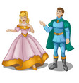 dolls of the prince and princess in a magnificent vector image
