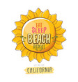 eat sleep beach repeat cartoon concept vector image vector image
