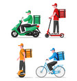 ecological convenient city delivery transportation vector image vector image