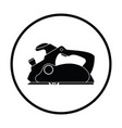 electric planer icon vector image vector image