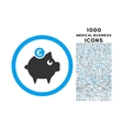 Euro Piggy Bank Rounded Icon with 1000 Bonus Icons vector image vector image
