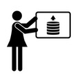 financial advisor icon vector image vector image