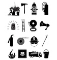 Firefighter icons set vector image