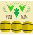 Flat style wine shop set vector image vector image