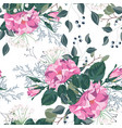 floral seamless pattern with garden roses vector image vector image