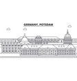germany postdam line skyline vector image