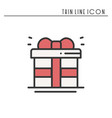 gift box with ribbon icon present giftbox new vector image vector image