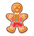 gingerbread cookies man of merry vector image