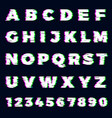 glitch font destroyer alphabet letters dynamic vector image vector image
