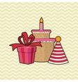Happy birthday cake design vector image vector image