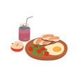 healthy food for breakfast or lunch toasts with vector image vector image