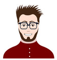 hipster avatar image vector image