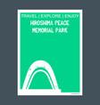 hiroshima peace memorial park japan monument vector image vector image