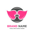 home love logo vector image vector image