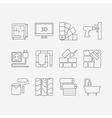 Interor desig icons isolated vector image vector image