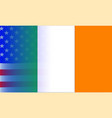 irish flag stars and stripes vector image vector image