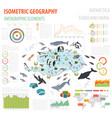 isometric 3d antarctica flora and fauna map vector image vector image