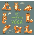 It is a nice day for Yoga vector image vector image