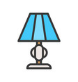 lantern or lamp icon filled style editable stroke vector image vector image
