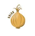 logo icon design onion farm vector image vector image