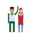 man and woman on a white background vector image vector image
