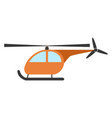 orange helicopter on white background vector image vector image