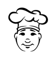 Outline portrait of cook in a toque vector image vector image