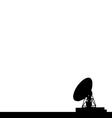 Radio telescope vector image vector image