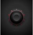realistic black combination safe lock volume vector image vector image