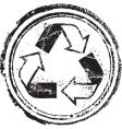 recycled stamp vector image vector image