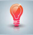 Red bulb icon with white background