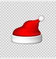 santa claus hat 3d realistic santa claus hat vector image vector image