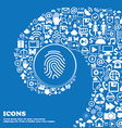 Scanned finger Icon sign Nice set of beautiful vector image vector image
