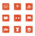 school uniform icons set grunge style vector image vector image