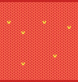 seamless red knitted pattern cartoon style vector image vector image