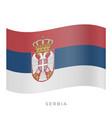 serbia waving flag icon vector image