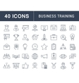 Set Flat Line Icons Business Training