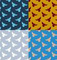 Set of flying pigeons seamless pattern Flock of vector image