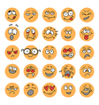 Set of hand drawn emoticons doodle characters vector image