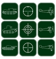 set of military icons vector image vector image