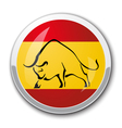 Silhouette of a bull in the national Spanish flag vector image vector image